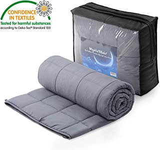OasisCraft Four Seasons Weighted Blanket-100% Cotton Weighted Blanket Inner, Heavy Blanket with Glass Beads for Sleep, Stress and Anxiety (60 inches X 80 inches, 15 lb)