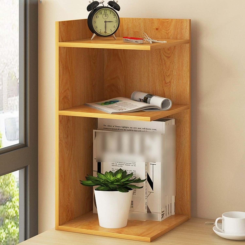Yxsd Storage Shelf Multi-Story Desk Shelf Student Desk Corner Bookcase (color   Yellow, Size   60  30  28.5CM)