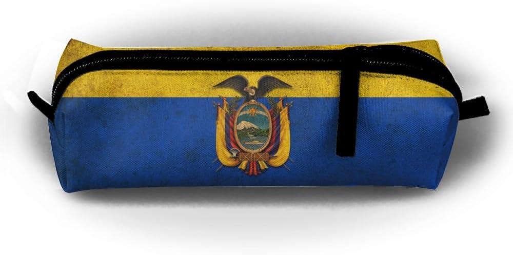 Beauty products Retro Ecuador Flag Pen Limited time sale Pencil Stationery Makeup Travel Case Bag