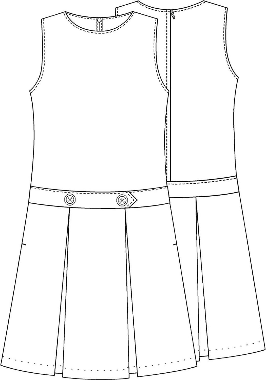 Classroom School Uniform Drop Waist Girls Plus Dress 5P4943, 8h, Navy
