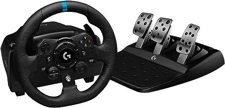 Volante Logitech G923 para Xbox Series X|S, Xbox One e PC com Force Feedback TRUEFORCE, Pedais Responsivos, Launch Control...
