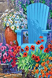 Image: Toland Home Garden Adirondack Arrangement 28 x 40 Inch Decorative Spring Summer Flower Floral House Flag