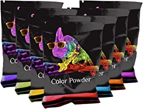 Rainbow Holi Powder Pack. Get The 7 Colors of The Rainbow from Chameleon Colors. 7 Brilliant Colors in 70g Bags. Red, Yellow, Blue, Green, Orange, Purple, and Magenta