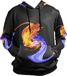 SLHFPX Yin and Yang Hoodie 3D Pullover Hooded Long Sleeve Workout Sweatshirts