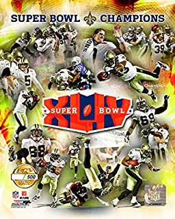 New Orleans Quarterback Drew Brees And Team Collage Super Bow lXLIV Limited Edition 8x10 Photo Picture.
