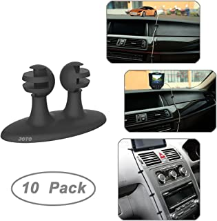 Car Cable Clip, JOTO Car Charger Mounts Cable Tie Holder, Car Cable Organizer, Desk Wall Cable Wire Clips, Computer, Electrical, Cord Cable Tie Drop (Black, 10 Piece)