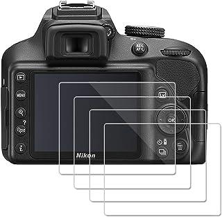 (4 Piezas) OOTSR Protector de Pantalla para Nikon D3400 D3300 D3200 D3100 Protector de Vidrio Templado para Nikon D3100 D3200 D3300 D3400 [Alta definición] [Fácil instalación]