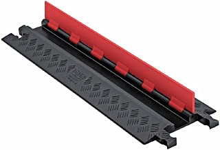 "Guard Dog GD1X75-ST-O/B Polyurethane Heavy-Duty 1-Channel Low-Profile Cable Protector with ADA Compliant Ramp, Orange Lid with Black Ramp, 36"" Length x 10.81"" Width x 1.25"" Height"