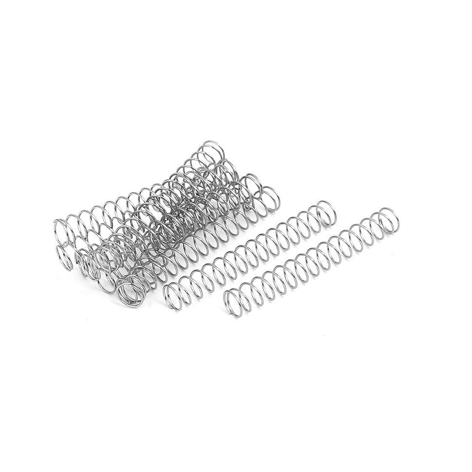 鋸歯状反論者観点uxcell 圧縮ばね 圧縮スプリング 304ステンレス鋼 0.4mmx5mmx35mm 10個入り