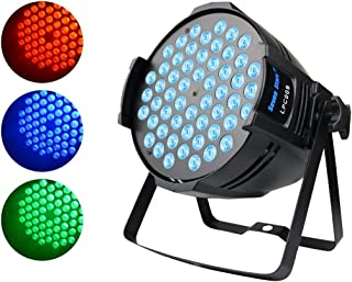 DJ Par Light,90W RGB Full Color Wash Light, Sound DMX512 Controlled LED Stage Light for Wedding Birthday Christmas Party Show Sound Active