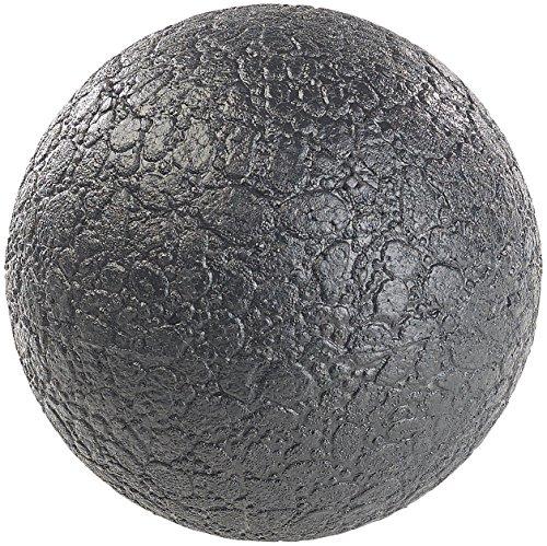 newgen medicals Massageball Rücken: Massage-Ball und Faszien-Trainer für Rücken & Co, Ø 12 cm, schwarz (Faszien Massageball)