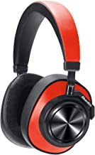 Bluetooth Headphones Over Ear, Bluedio T7 Turbine Custom Active Noise Canceling Headphone 57mm Driver Hi-Fi Stereo & 30Hrs Playtime, Wireless Headsets with Mic for PC/Cellphone/Travel/Work, Red