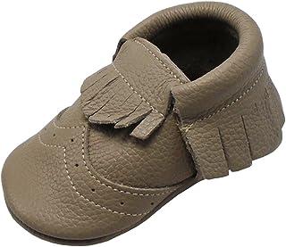 Mejale Chaussons en cuir à semelle souple pour bébé
