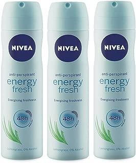 Nivea Energy Fresh Antiperspirant, 150ml (Pack of 3)
