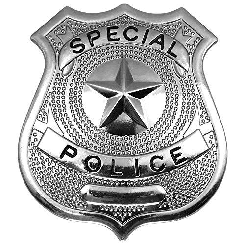 German Trendseller® 1x Placa - Policía┃Accesorio┃Metal┃Carnaval - Fiesta┃Special Police Cop┃ 1x Pieza