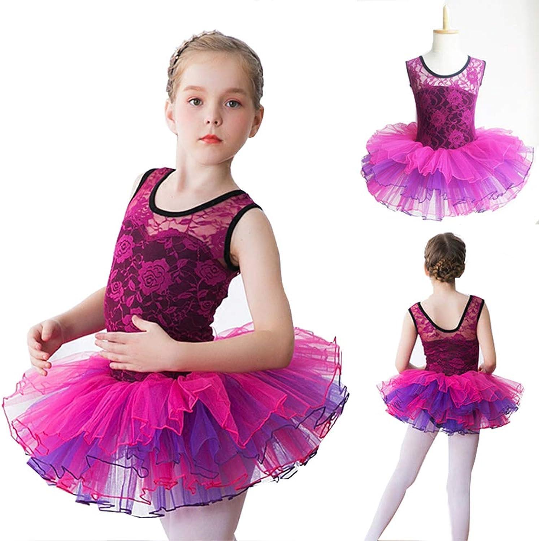 Girls Tutu Lace Ruffle Tank Vest Leotard Sweet Dancing Ballet Dress Gymnastics Leotard