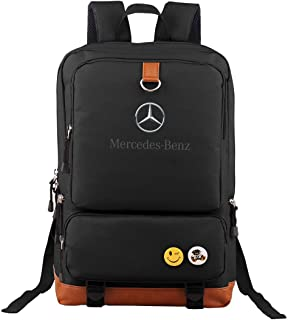 Ausan Davis Mercedes Benz Backpack Outdoor Hiking Daypacks Laptop Backpacks Vintage School Bag for Men Women Travel Rucksack Large Capacity College Bookbag