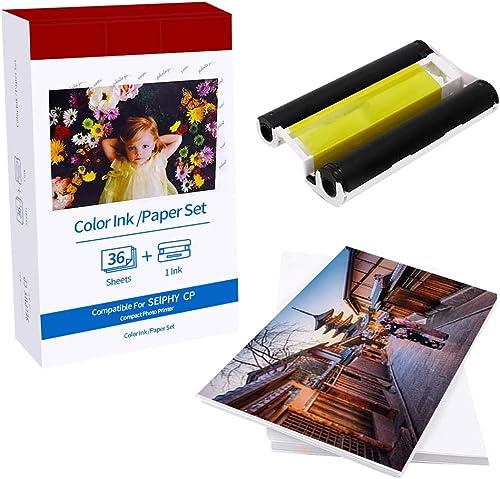 Selphy Papier photo KP-36IN Cassette d'encre couleur / 36 feuilles compatible avec les imprimantes photo Canon série ...