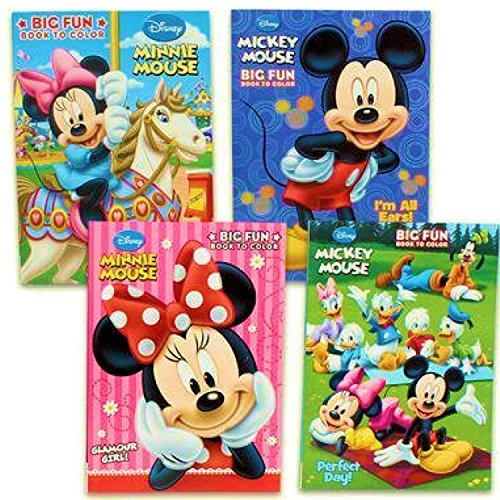 minnie mouse books for a 4 year olds Disney's Mickey Mouse & Minnie Mouse Plus Friends Activity And Coloring Book (Set Of 4) by Bendon Publishing