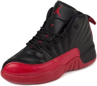 Jordan Nike Boys 12 Retro BP Flu Games Black/Varisty Red Leather Size 3Y