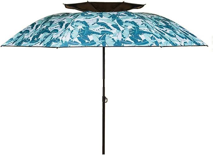ZHUSAN Parapluie De Pêche Universel écran Solaire Extérieure Parasol Surdimensionné Double Bleu Mode Parasol pour Jardin Plage Boutique Camping