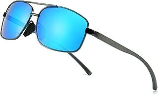 Ultra Lightweight Rectangular Polarized Sunglasses UV400 Protection