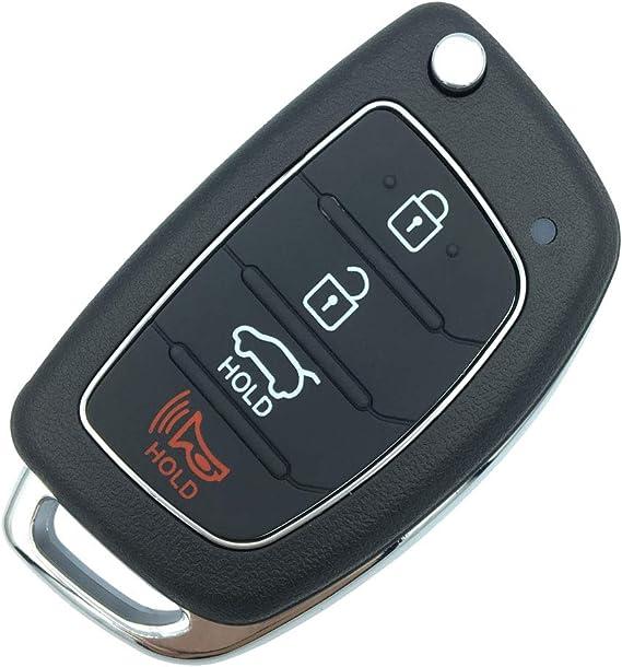 Keyless Remote Key Fob Shell 3 BTN Panic For HYUNDAI Elantra Sonata Santa Fe