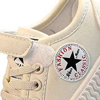 Hopscotch Baby Boys and Baby Girls PU Velcro and Lace Up Sneakers in Beige Color