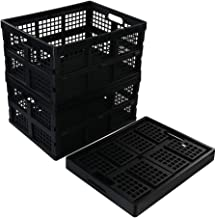 Morcte 6-Pack Plastic Rectangular Basket, Storage Organizing Bin, Brown