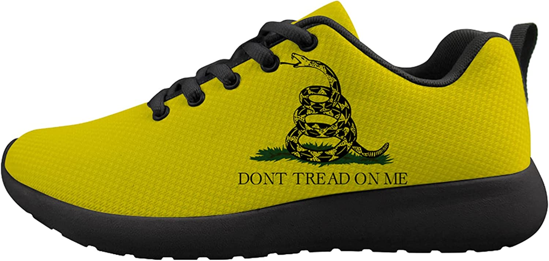 Rattlesnake Warning Don't Tread On Me Unisex Adult Cushioning Running Shoe Athletic Walking Tennis Shoes Fashion Sneakers