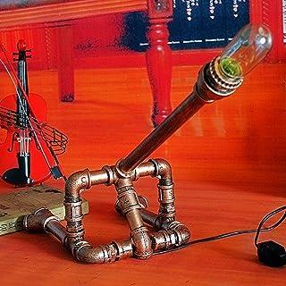 GH-YS Retro Edison E27 Long Water Pipe Stehtischlampe American Vintage Industrial Schmiedeeisen Eisen Schreibtisch Licht S...
