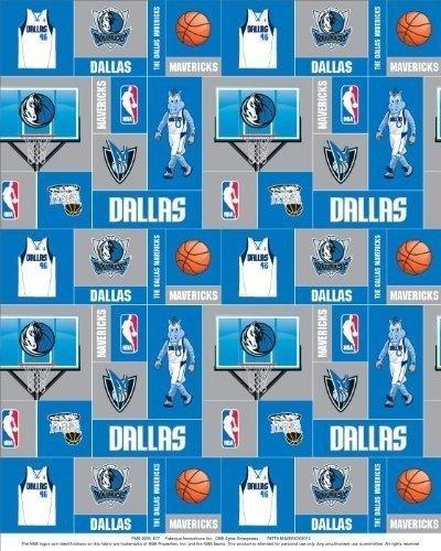 Fleece NBA Dallas Mavericks Basketball Print Fleece Fabric by The Yard