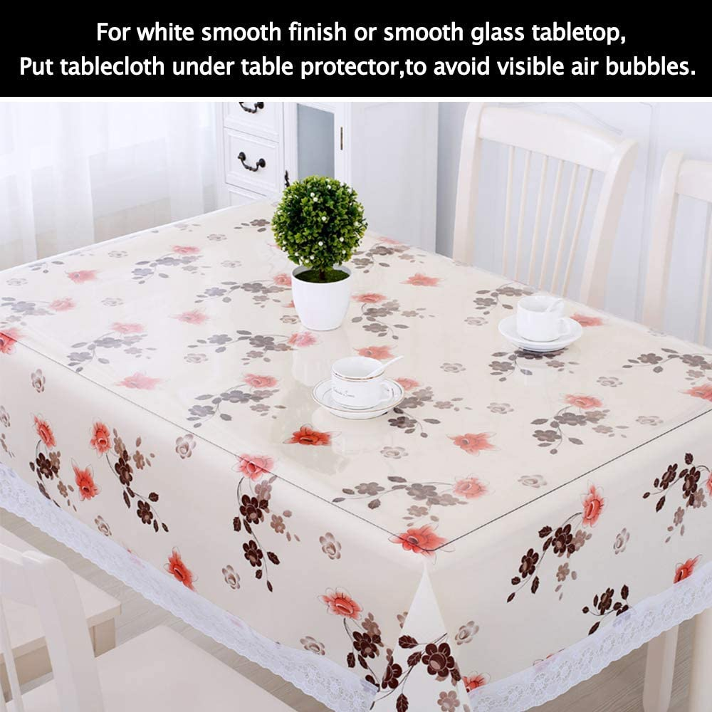 Buy Clear Round Dining Table Protector Tablecloth Cover Desk Top ...