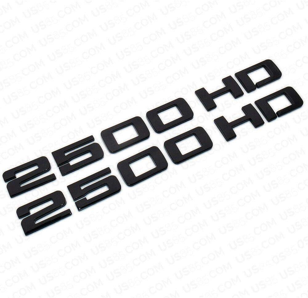 Pair 2500HD Nameplates Emblems 3D Cheap Finally popular brand SALE Start for Chevrol Badges Replacement