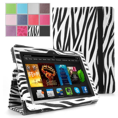 POETIC SlimBook Schutzhülle für New Kindle Fire HDX 7 2 nd Generation 2013 17,8 cm Tablet – Zebra
