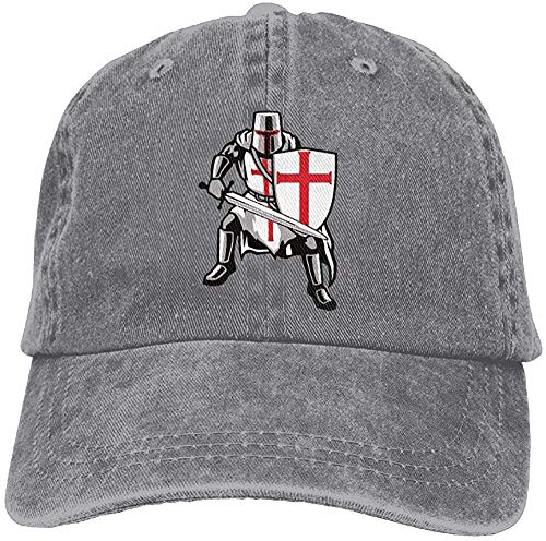 angwenkuanku Crusades Caballeros Templarios Adulto Dad Sombrero de béisbol Vintage lavado desgastado