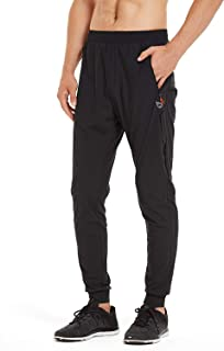 Baleaf Men's Cool Running Pants Quick Dry Jogger Zipper Pockets Tapered Leg Sports Pants