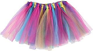 SHOBDW mujer, Falda del Tutu para Niña,SHOBDW Niños Bebé Regalos de Cumpleaños Elasticidad Fluffy Layered Rainbow Mini Pettiskirt Ballet Falda Fiesta de Regalo de Cumpleaños de Lujo Traje de Baile