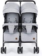 Cochecito DZWSD Silla de Paseo gemelar Plegable Silla gemelar con Respaldo Ajustable, Reposapiés, Cinturones de Seguridad de 5 Puntos, Diseño Plegable para facilitar el Transporte