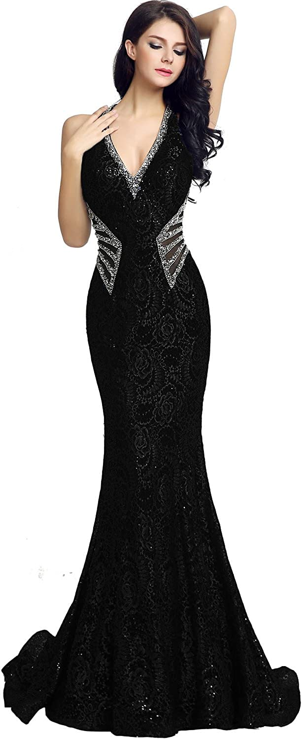 Sarahbridal Women's Crystal Beaded Prom Evening Gowns Ranking TOP18 Long Dress Ranking TOP14