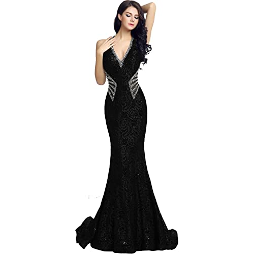 Sarahbridal Evening Gowns for Women Long Mermaid Prom Dresses Elegant Party  Ball Beaded with Sequins for 5e51c74767ab