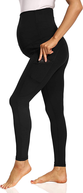 Foucome Women's depot Maternity Max 81% OFF Leggings High 4 Wa Pants Waist Workout