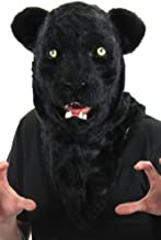 elope Black Panther Mouth Mover Costume Mask for Adults