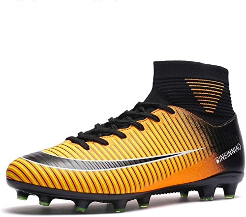 YSZDM Chaussures de Football Chaussures d'entraînement de Football pour Enfants Chaussures de Tennis pour Enfants Chaussures de Football pour Chaussures de Football pour Garçons,jaune,38