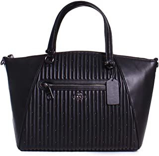 Womens Quilted Leather Prairie Satchel