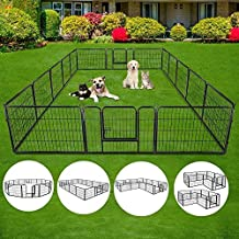 S AFSTAR Safstar Dog Pen, 40/48 inch Pet Puppy Playpen for Indoor and Outdoor, Portable Folding Metal Kennel Fence, 16 Metal Tube Panels