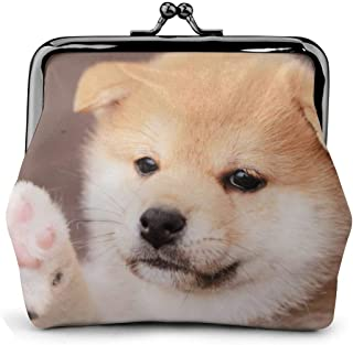 YUANSHAN Bread Love Heart Unisex Canvas Coin Purse Change Cash Bag Zipper Small Purse Wallets with Handle