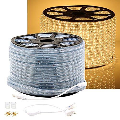 GreenSun LED Lighting LED Lichterschlauch 20M, Lichtschlauch Lichterkette Licht Leiste LED Streifen Strip 36LEDs/M Schlauch für Innen und Außen IP65 Warmweiß
