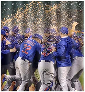 cubs shower curtain