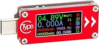 DollaTek TC64 Typ-C-färg LCD-skärm USB voltmeter amperemätare spänning ström mätare multimeter batteri PD laddningsbank US...